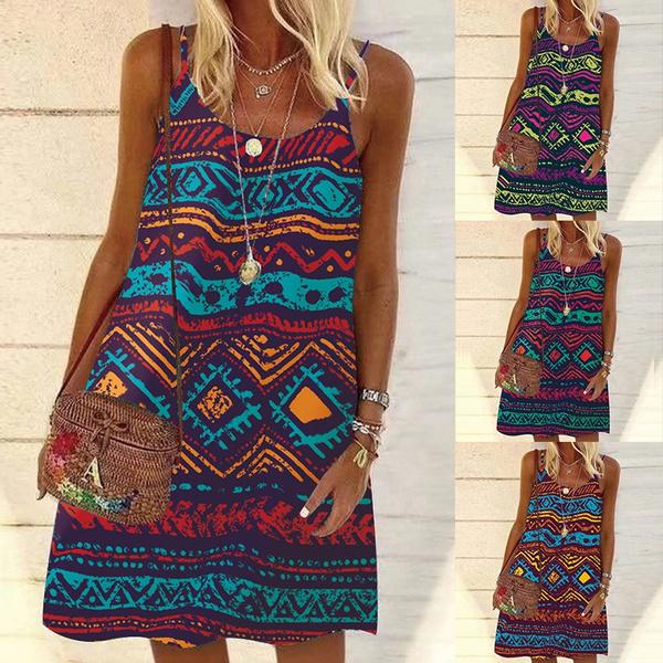 Summer, dressesforwomen, Vintage, Dress