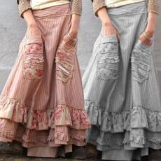Vintage, long skirt, pantsforwomen, flaredpant