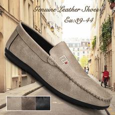 Plus Size, flatleathershoe, casual leather shoes, outdoorleathershoe