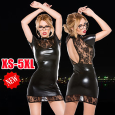 nightclub dress, pornowomen, Lace, leather