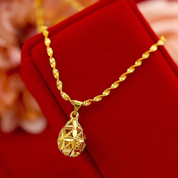 pendantnecklacerosegold, Chain, gold, pendantnecklacesforwomen