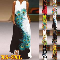 Summer, long skirt, Plus Size, long dress