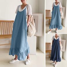 denim dress, Summer, dressesforwomen, overallsdres