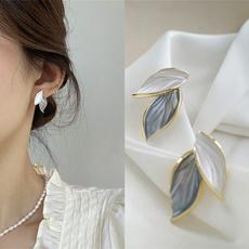 Blues, leaf, Jewelry, wedding earrings