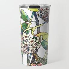 Steel, Coffee, Flowers, travelmug