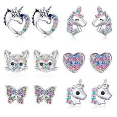 cute, butterfly earrings, Sterling Silver Earrings, Animal
