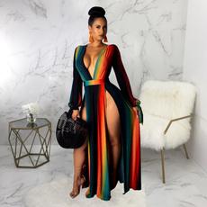 Fashion, womenvintagedres, Long Sleeve, Dress
