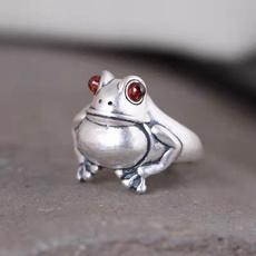 adjustablering, animalring, Jewelry, redgarnetfrog