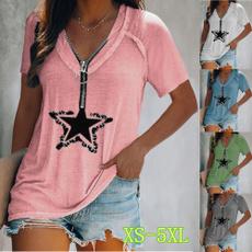 shirtsforwomen, Summer, Plus Size, Star