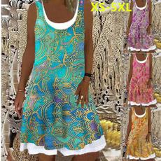 Sleeveless dress, Plus Size, women dresses, Vestidos