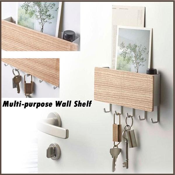 Box, hangerhook, wallshelf, Wooden