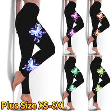 butterfly, sexy leggings, Plus Size, skinny pants