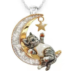 moonnecklace, Jewelry, Crystal, Pets