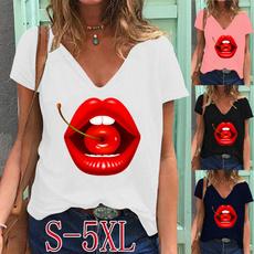 printedtop, Plus Size, Summer, Graphic Shirt
