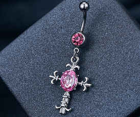 pink, Flowers, Jewelry, Angel