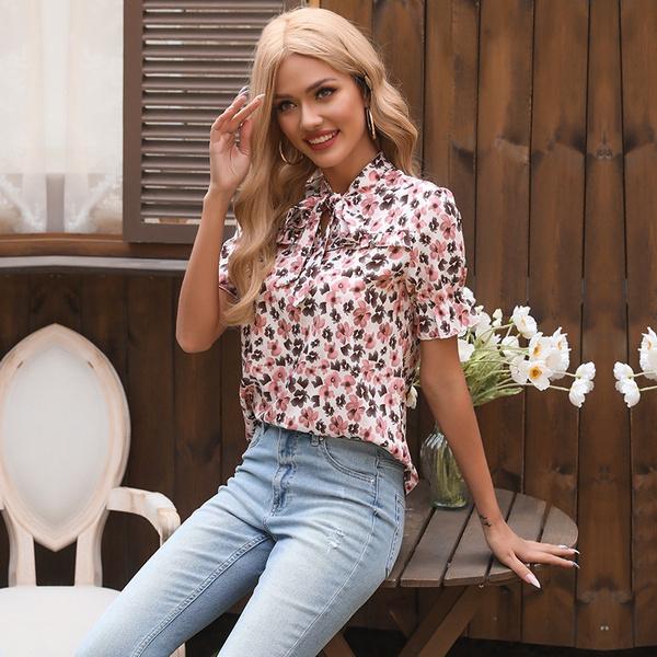 blouse, Floral, Fashion, Necks