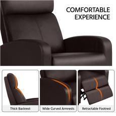 singlechair, brown, reclinerchair, Home