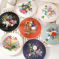 embroiderycrossstitch, crosssticthflowerfabric, embroideryforhomedecoration, embroiderypatche