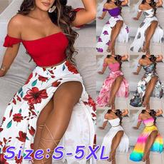 Summer, Plus Size, Mini, Sexy Dress