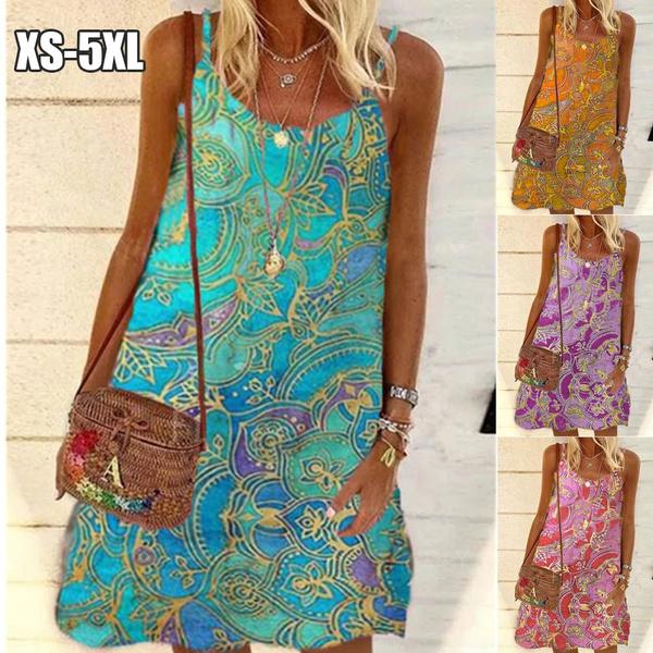 Summer, Plus Size, Dresses, Vintage