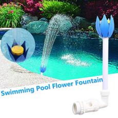 Summer, Flowers, pool, Sprays