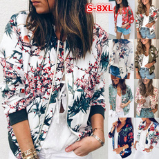 Plus Size, floraljacket, Long Sleeve, Spring