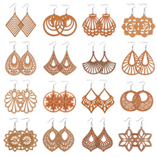 pendantearring, Dangle Earring, woodenearring, beachearring