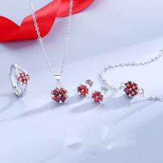 leaf, Jewelry, garnet, pomegranate