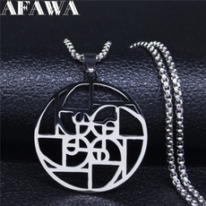 Steel, mathematicsnecklace, Stainless Steel, Jewelry