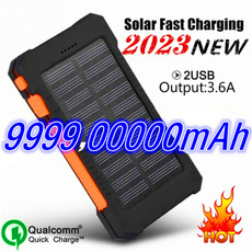 Flashlight, solar charger, Mobile Power Bank, Waterproof
