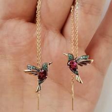 Sterling, DIAMOND, gold stud earrings for women, Jewelry