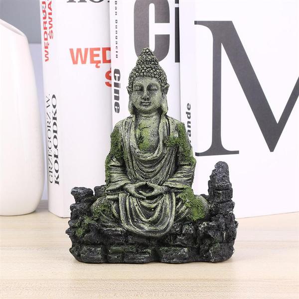 buddhastatue, rockerystonestatue, Home Decor, Statue