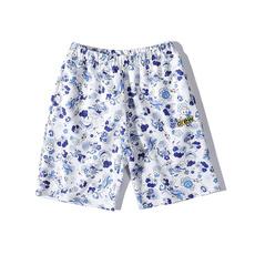 短裤, 印花, 云朵, Justin