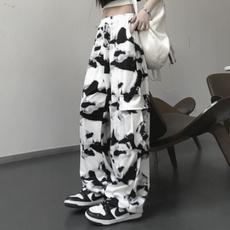 Korea fashion, Plus Size, Tie Dye, Casual pants