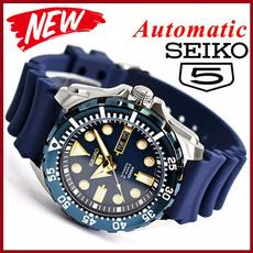 Steel, Blues, Fashion, Waterproof Watch