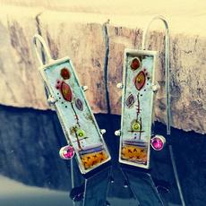 Sterling, 925 sterling silver, ananniversarygiftforher, wedding earrings