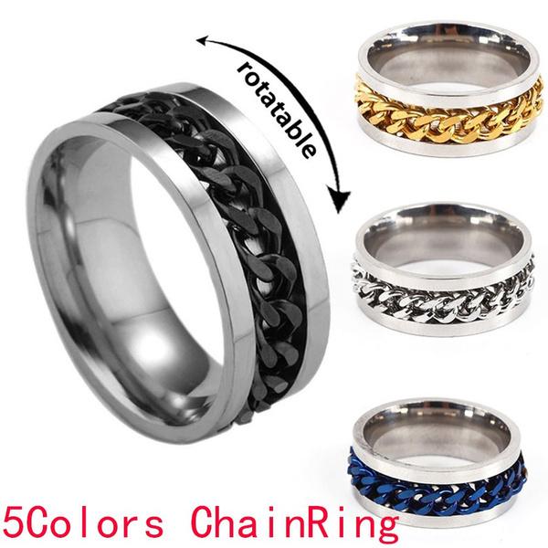 Steel, fidgetspinner, Jewelry, Chain