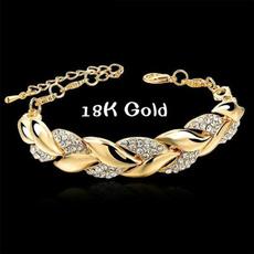 Charm Bracelet, DIAMOND, Chain bracelet, gold