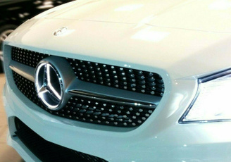 Grill, benz, led, Star