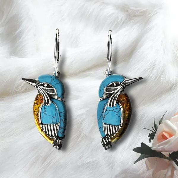 Turquoise, Hoop Earring, Dangle Earring, Jewelry