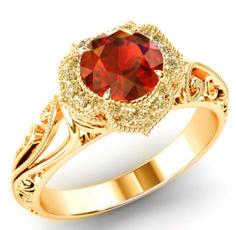 925 silver rings, gold, 18k gold ring, Women's Fashion