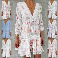 Summer, whitelacedresse, Lace, Dress