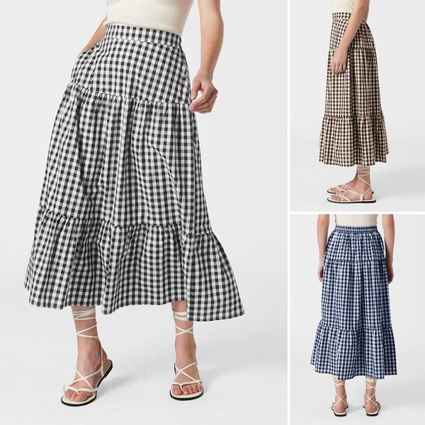 dressforwomen, Plus Size, Elastic, Summer