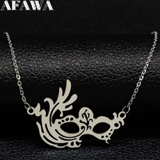 Steel, Chain Necklace, Stainless Steel, masknecklace