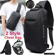 Shoulder Bags, Outdoor, usb, Waterproof