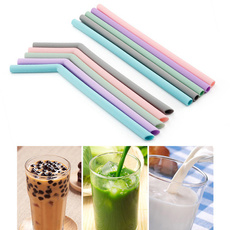 Steel, siliconestraw, strawcleanerbrush, Silicone