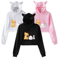 Fashion, crop top, Long Sleeve, anime hoodie