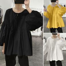 shirttopsforwomen, Summer, Fashion, cottonlinen