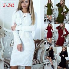 Mini, Slim Fit, sweater dress, Winter