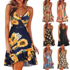 Swing dress, Floral print, Summer, Dress